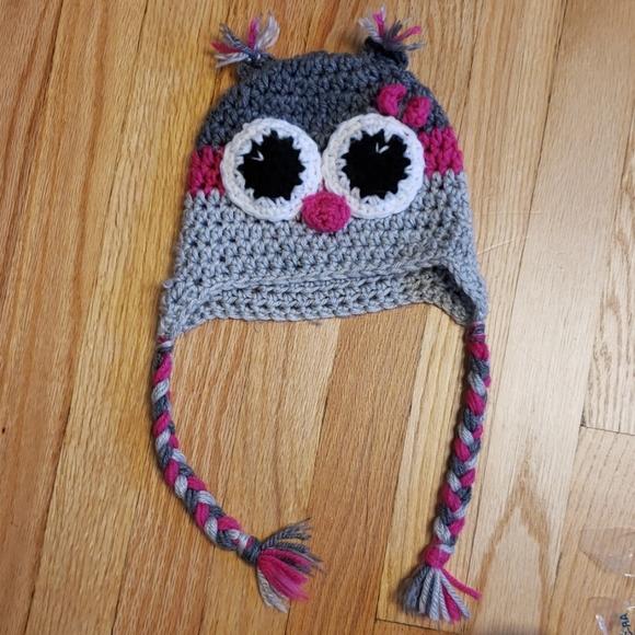 Other - Crochet Owl hat